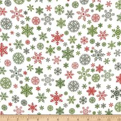 Christmas Delivery - Red Green Black Snowflakes on Cream - Riley Blake - 1 Yard Cut BTY - Christmas Fabric - Holiday Snowflakes by Jambearies on Etsy Diy Christmas Fireplace, Diy Christmas Snowflakes, Snowflake Craft, Snowflake Decorations, Christmas Fabric, Christmas Crafts, Handmade Christmas, Classy Christmas, Beautiful Christmas