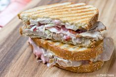 Turkey breat reuben panini....don't put much souce on the sandwich before you grill it. Add later if you need it...for nicer sandwich.