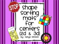This product is a set of sorting mats and 2D/3D shape picture cards. This activity will is great practice for younger elementary students. It is great for shape identification, shape recognition, and determining the difference between 2D and 3D shapes.