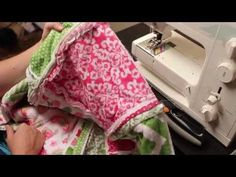 You can learn how to make a rag quilt with these step by step video tutorials. Perfect first quilting project!