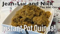 You asked for it and here it is! Here's how we cook quinoa in our instant pot! How To Cook Quinoa, Cooked Quinoa, Chicken Spices, Maple Bacon, Curry Powder, Roasted Garlic, Instant Pot, Healthy Eating, April 1st