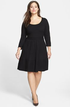 Jessica Simpson 'Grivola' Fit & Flare Sweater Dress Nordstrom