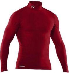 $64 Camiseta de hombre EVO ColdGear Compression Mock Under Armour - ajuste compresión - tejido GoldGear - costuras planas, manga raglán