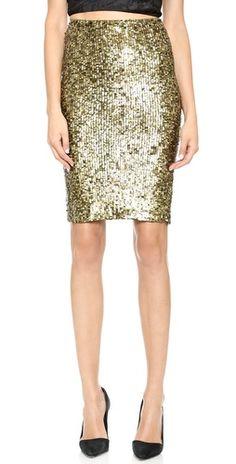 alice + olivia Bryce Sequin Pencil Skirt | SHOPBOP
