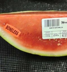From the store that carries seedless ribs