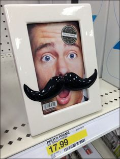 My 'Stach Photo Frame Self-Sell – Fixtures Close Up After Shave, Awesome Stuff, Close Up, Hooks, Packaging, Retail, Display, Selfie, Random