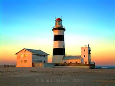 The lighthouse at Cape Recife towards sunset.