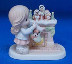 Minnie Mickey Goofy Stockings Hung Care Disney Precious Moments Figurine 710037 #PreciousMoments