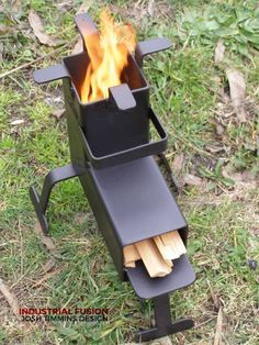 rocket stove and grill ile ilgili görsel sonucu Rocket Heater, Rocket Stoves, Stove Heater, Stove Oven, Metal Projects, Welding Projects, Rocket Stove Design, Stove Fireplace, Wood Burner