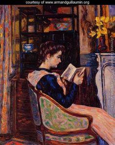 Mademoiselle Guillaumin Reading - Armand Guillaumin - www.armandguillaumin.org
