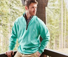 DownpourDry Cotton 1/4 Zip Pullover. #SouthernMarsh