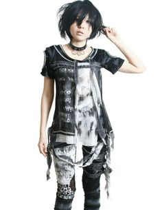 Smoked Flame Gothic Punk Rocker Tie Dye Skull Mummy Bandage Men/Women Shirt