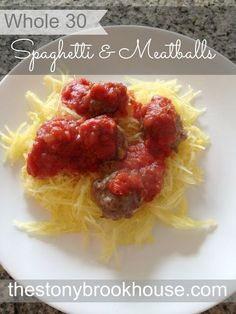 Whole 30 Recipe: Spaghetti and Meatballs (leave out Worcestershire or use Coconut Aminos instead)