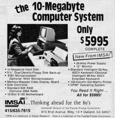 1977 : 10MB Computer – only $5995
