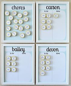 "Lemon Squeezy Home's magnetic chart makes it easy for kids to ""cross"" things off their list as they are completed.   Source: Lemon Squeezy Home"