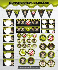 Ghostbusters birthday ghostbusters party by PrinterFairy on Etsy