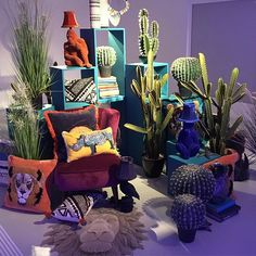 """DEBENHAMS, London, UK,  (Home Design Headquarters), """"People trample over flowers, yet only to embrace a cactus"""", for ABIGAL AHERN (Homewear), pinned by Ton van der Veer"""