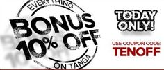 Tanga Coupon - 10% Off Everything We have a great Tanga coupon for you today! Right now on Tanga, you can score an extra 10% everything. Sweet! This is in