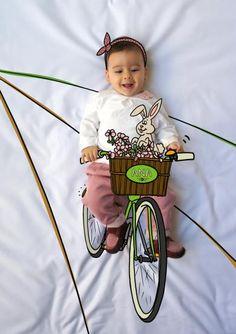 ana, ciclista, bike, bici, bicicleta, de mayor quiero ser, fotografía, infantil, bebé, creativa, ilustración, baby, photography, kid, illustration, photography, creative, dibujo