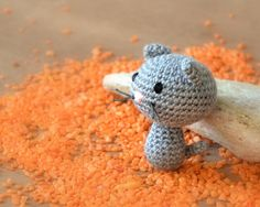 Amigurumi tiny crochet cat toy by ittooktwo on Etsy