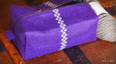 Made in Home: Embroidered Boxy Pouch | Le Challenge