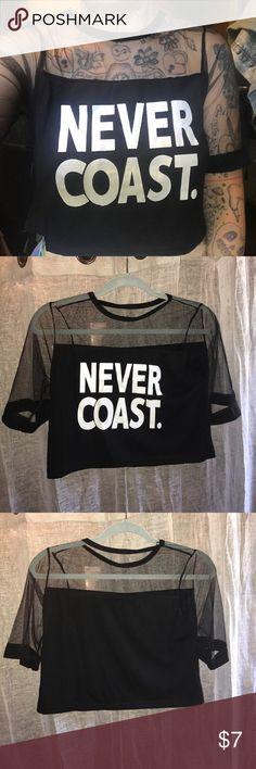 Never coast netted crop top Netted crop too Tops Crop Tops