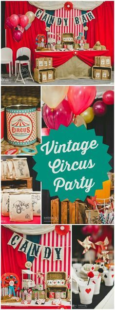 So many great details at this vintage circus party! See more party ideas at CatchMyParty.com!