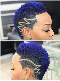 Awesome 46 Lovely Navy Blue Hair Ideas For Elegant Women To Try Natural Hair Short Cuts, Short Natural Haircuts, Tapered Natural Hair, Short Hair Cuts, Natural Hair Styles, Short Hair Designs, Shaved Hair Designs, My Hairstyle, Girl Hairstyles