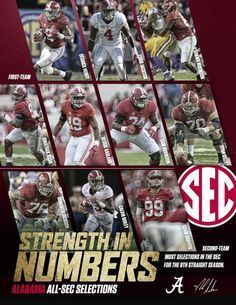 Strength in Numbers - 2015 Alabama Crimson Tide - All-SEC Selections