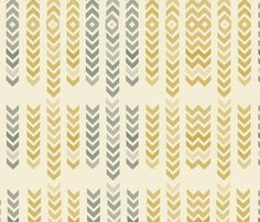 Mellow arrows fabric by mollycoddle for sale on Spoonflower - custom fabric, wallpaper and wall decals