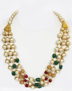 Designer Hyderabad Pear Necklace Set Necklaces and Necklace Sets on Shimply.com