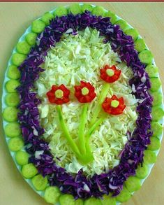 The most unusual salad design ideas — Newsquote Salad Decoration Ideas, Vegetable Decoration, Salad Design, Food Design, Design Ideas, Cute Food, Yummy Food, Salad Presentation, Iran Food