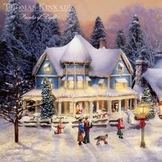 Thomas Kinkades Collectible Village Christmas Collection
