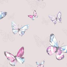 Amelia Pale Lilac wallpaper by Albany