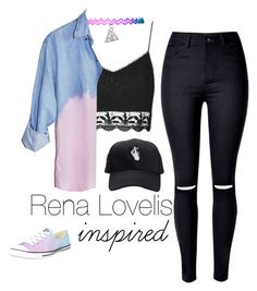 """""""Rena Lovelis inspired outfit"""" by ngochemmings on Polyvore featuring Converse and Topshop"""