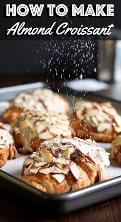 There Is No Such Thing As Too Many Croissants. In any case, If That Does Happen, Add Almond Cream And Turn Them Into Something Even More Amazing, Almond Croissant Bakery Recipes, Brunch Recipes, Sweet Recipes, Cooking Recipes, Köstliche Desserts, Delicious Desserts, Dessert Recipes, Yummy Food, Croissants