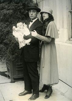Buster Keaton, Natalie Talmadge & their first son