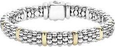 Signature Caviar Beaded Bracelet With Gold - LAGOS Jewelry