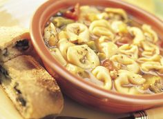 Tortellini Soup With Olive Bread Recipe from #PublixAprons