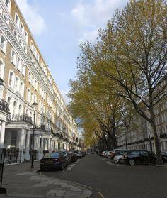 Knightsbridge Hotel is tucked here on this street ~  in wonderful London