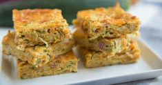 Tuck into this tasty zucchini slice for lunch or a snack!