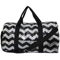 de81d405bf Sequins Chevron Print Gym Cheer Duffle Bag Wholesale Team Spirit Bags