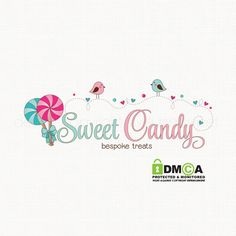 candy logo design lollypop logo design party by stylemesweetdesign