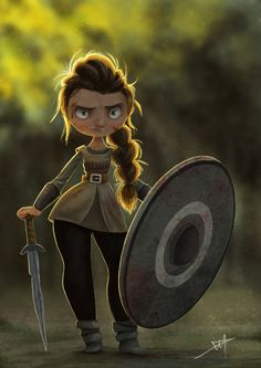 Viking - Shield Maiden by Danielle Pioli | Illustration | 2D | CGSociety
