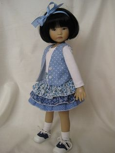 ALL BLUE made to fit 13 Little Darling Effner by darladelight