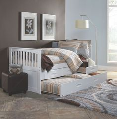 Jenny Lind Trundle Bed In Azure Land Of Nod If I Have A Girl
