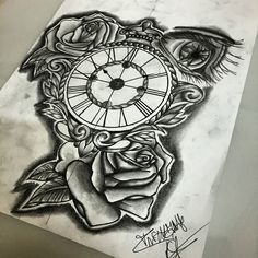 #sketching  #ink #inked #inklife #instagood #instalike #instatattoo #instadraw #inkedgirl #inkedboy #boy #girl #girltattoo #boytattoo #lille #france #followme #mandala #mandalaart #mandalatattoo #rose #rosetattoo #ideatattoo #smalltattoo #clock #rose