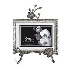 Michael Aram Black Orchid Easel Photo Frame