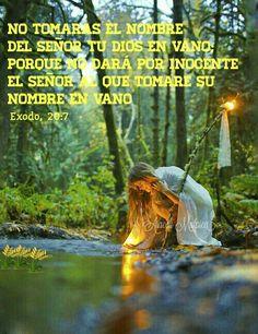 Éxodo, 20:7 - No tomarás el Nombre del SEÑOR tu Dios en vano; porque no dará por inocente el SEÑOR al que tomare su Nombre en vano.