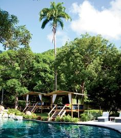 On the French side of St. Martin, the 154-acre private nature reserve Loterie Farm continues to grow, adding poolside cabanas to its zip-line course, hiking trails, and other outdoorsy amenities. The reserve's new pool area is pictured above.